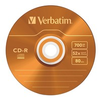 Verbatim CD-R 700MB Slim Case Colours 52x (25 Pack) image