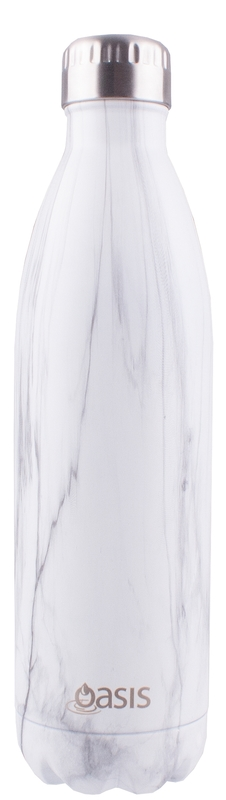 Oasis Stainless Steel Insulated Drink Bottle - Marble (750ml)