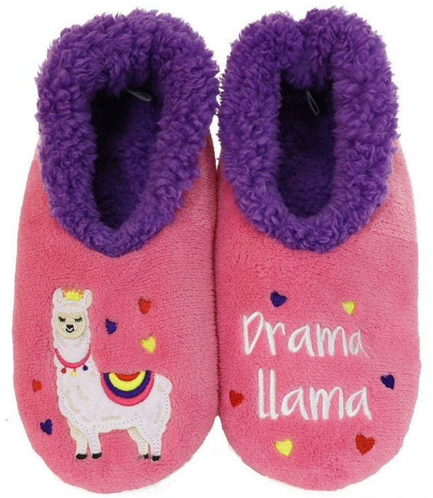 Slumbies Drama Llama Pairables Slippers (L)