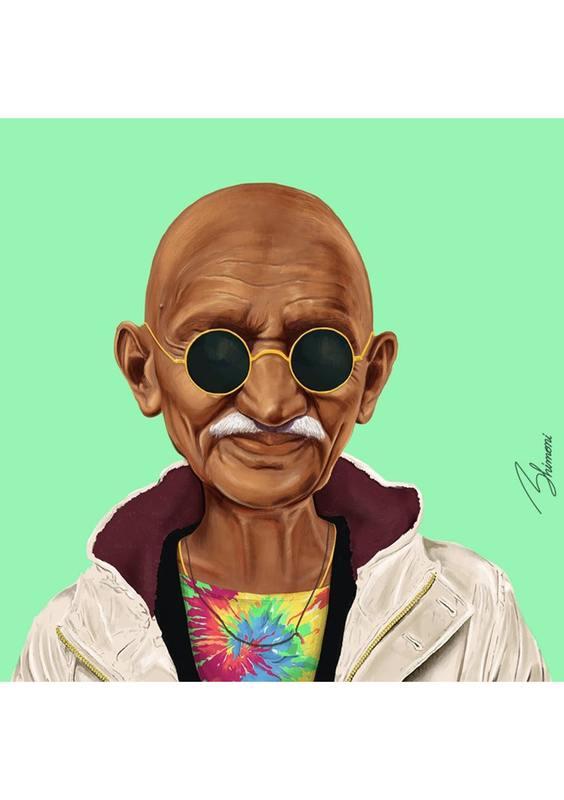 HipStory Coaster - Mahatma Gandhi