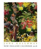 Jane Galloway New Zealand 2018 Wall Calendar