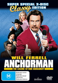 Anchorman - The Legend Of Ron Burgundy: Classy Edition (2 Disc Set)  on DVD image