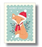 Fox With Red Scarf Tags (Pack of 5)