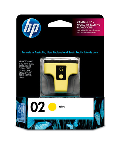 HP 02 Ink Cartridge C8773WA (Yellow) image
