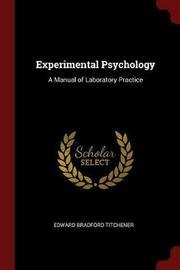 Experimental Psychology by Edward Bradford Titchener image