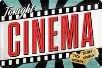 Nostalgic Art: Tin Sign - Cinema