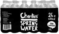 Charlie's Spring Water 600ml (24 Pack)