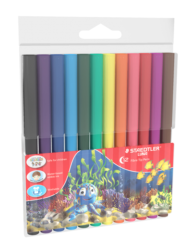 Luna - Fibre Tip Pens: 2mm 12 Pack