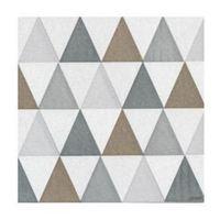 Francoise Paviot Napkins - Triangles Silver (20 Pack)