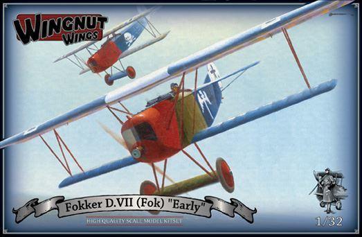 """Wingnut Wings 1/32 Fokker D.VII (Fok) """"Early"""" Model Kit"""