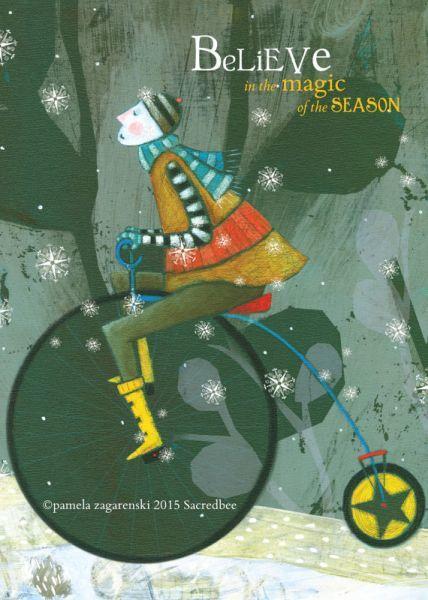 Sacred Bee:Individual Christmas Card - Magic Holiday image