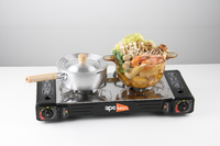 Ape Basics Premium Double (Twin) Burner Butane Camping Stove Kit