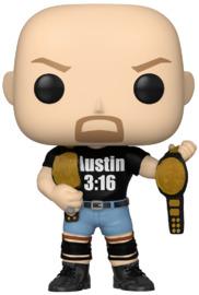 WWE: Stone Cold Steve Austin (with 2 Belts) - Pop! Vinyl Figure