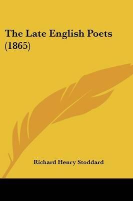 The Late English Poets (1865) image