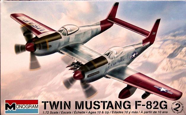 Monogram U.S. Twin Mustang F-82G Aircraft 1/72 Model Kit