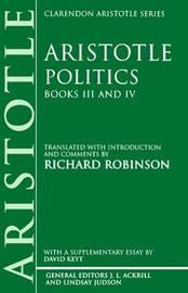 Politics: Books III and IV by * Aristotle image