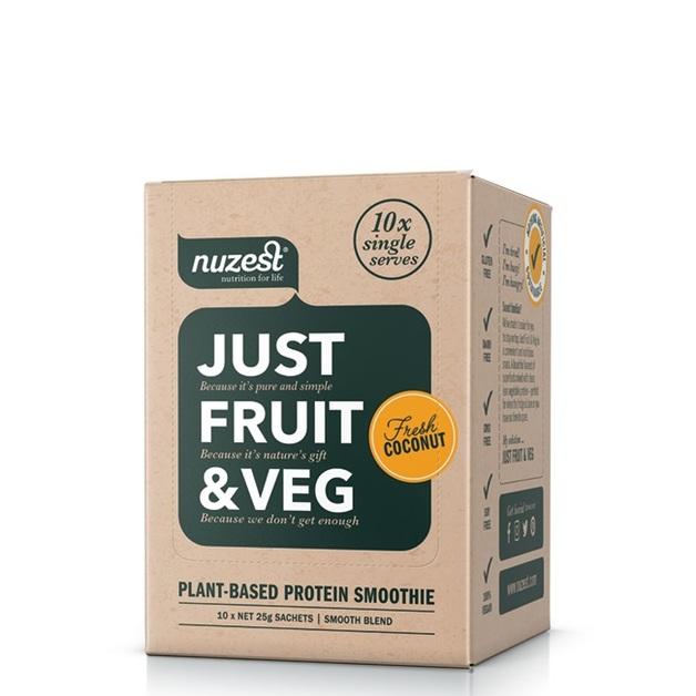 Just Fruit & Veg Protein Smoothie - Fresh Coconut (10 Sachets)