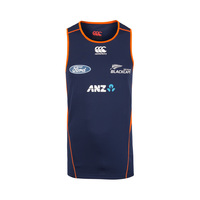 NZ Blackcaps Replica Training Singlet - Medieval Blue (XXL)
