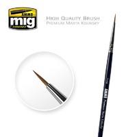 Ammo of Mig Jimenez 2/0 Premium Marta Kolinsky Round Brush