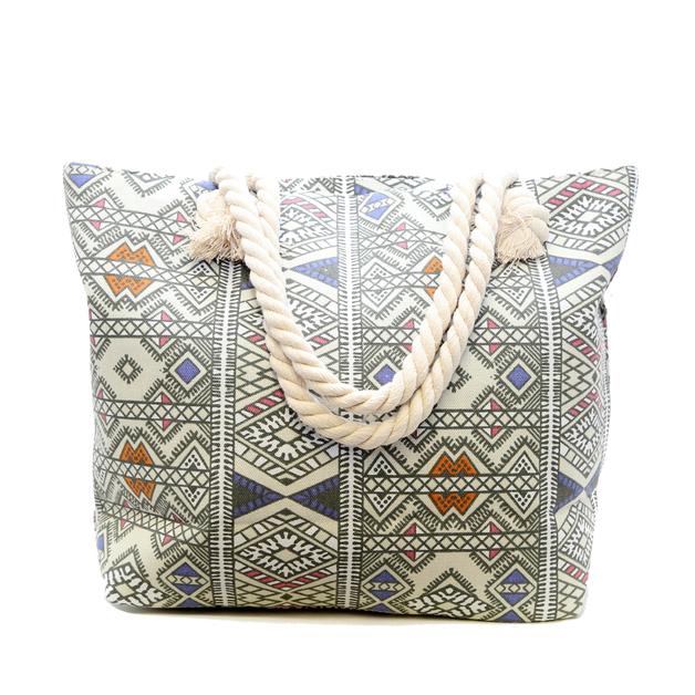Short Story: Aztec Bag - White