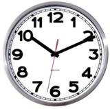 Karlsson White Wall Clock with Numbers - 24cm