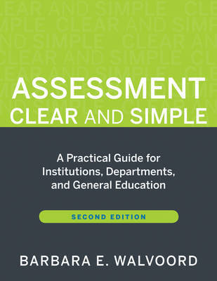 Assessment Clear and Simple by Barbara E. Walvoord image