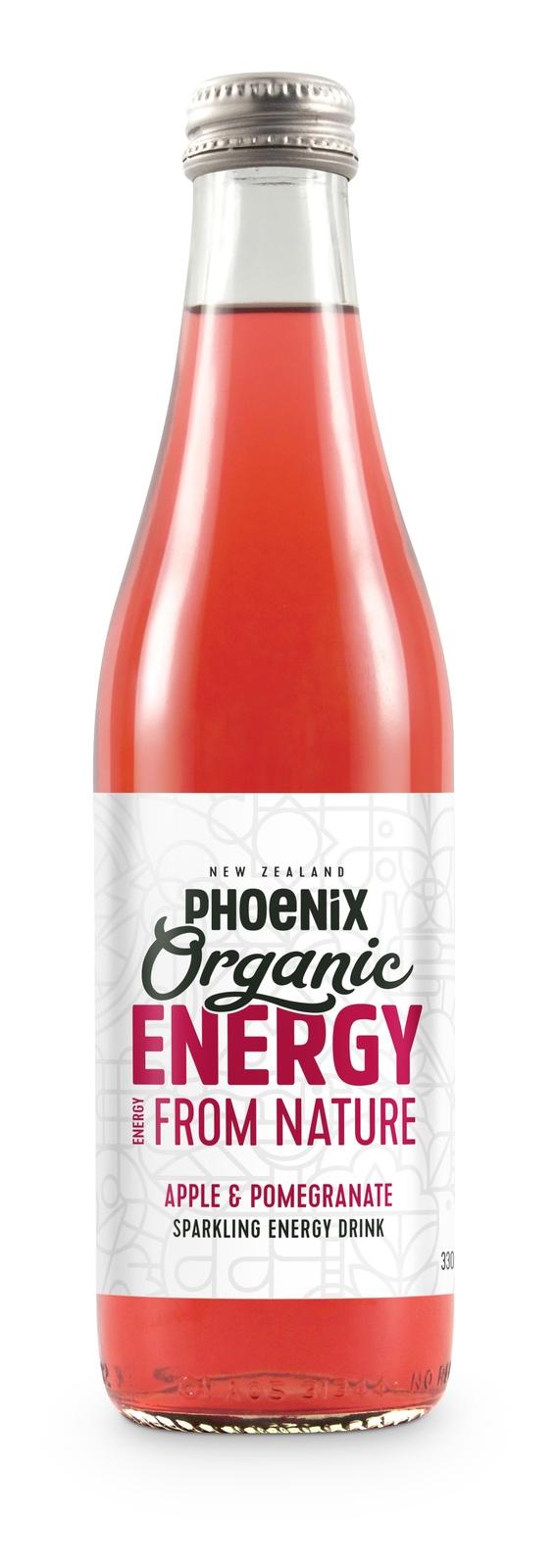 Phoenix Organic Energy - Apple & Pomegranate 330ml (15 Pack) image