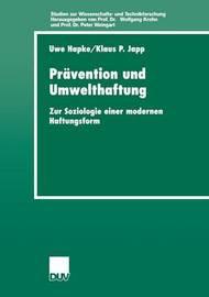 Pravention Und Umwelthaftung by Uwe Hapke