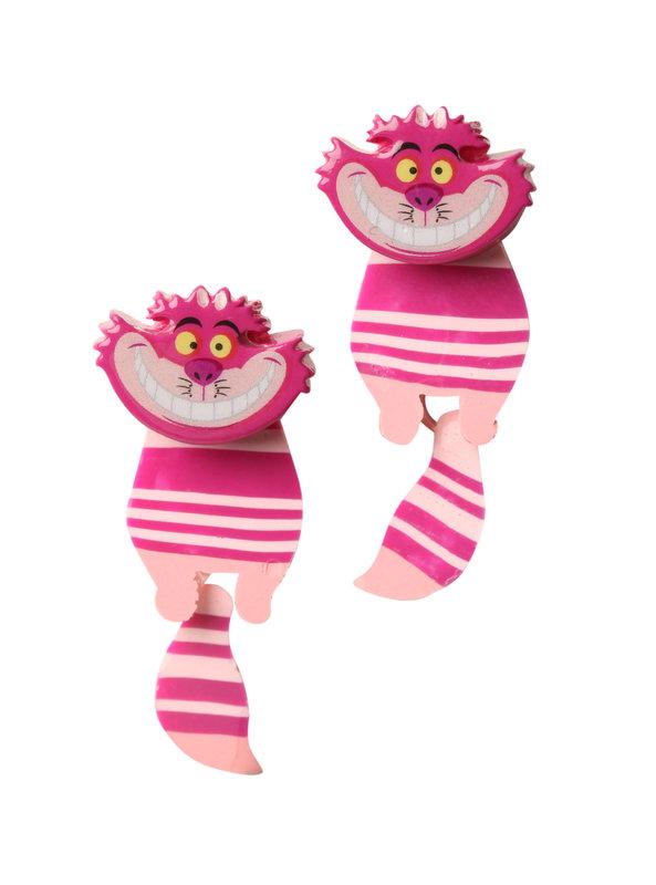 Neon Tuesday: Alice In Wonderland - Cheshire Cat Swivel Earrings