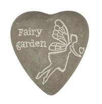 Fairy Garden - Engraved Heart Pebble