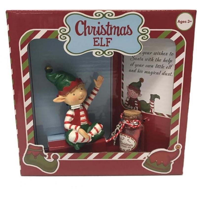 Christmas Elf Figurine With Jar image
