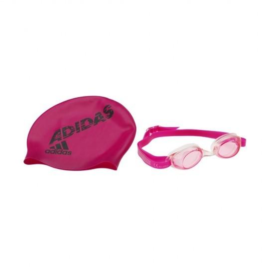 Adidas Goggles - Kids Pink/Gray/Bloom Goggle/Cap