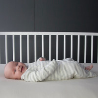 Woolbabe: Merino/Organic Cotton Gown - Pebble (0-3 Months)