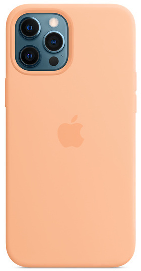 Apple iPhone 12 Pro Max Silicone Case with MagSafe - Cantaloupe
