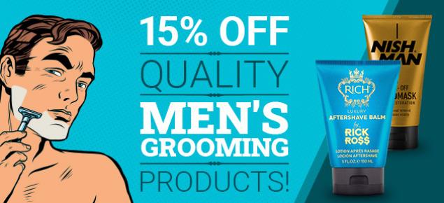 15% off Men's Grooming!