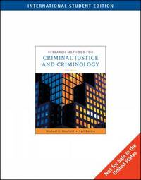 Research Methods for Criminal Justice and Criminology by Michael G Maxfield image