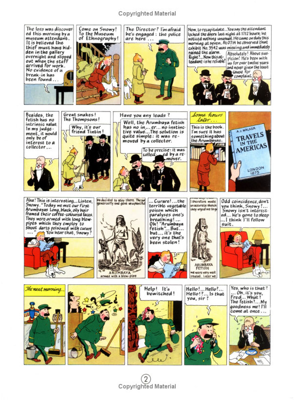 Tintin and  the Broken Ear (The Adventures of Tintin #6) by Herge image