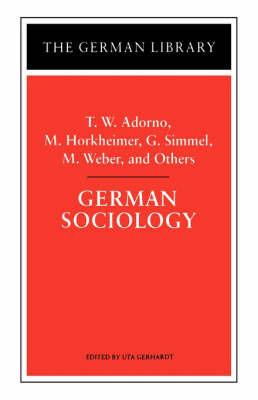 German Sociology by Theodor W Adorno