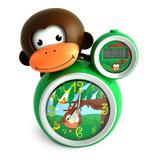 BabyZoo Sleep Trainer Clock - Green Monkey