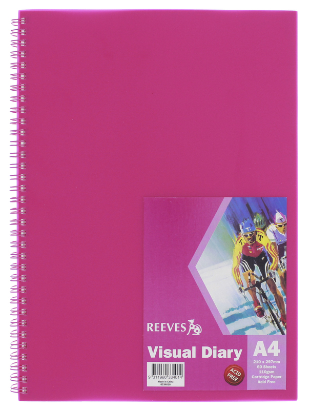 Reeves A4 Visual Diary - Pink
