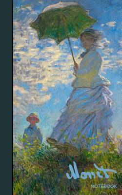 Monet Notebook: Gifts / Presents / Mothers' Day ( Woman with a Parasol & Water Lilies - Ruled Notebook ) by Smart Bookx image