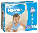 Huggies Nappies Mega Pack - Crawler Boy 6-11kg (136)