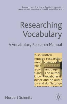 Researching Vocabulary by Norbert Schmitt image