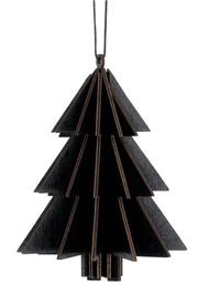 3D Christmas Tree Hanging Decoration - Black