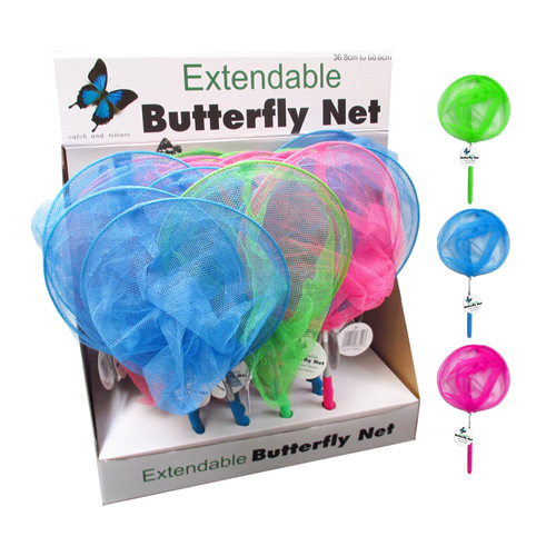 Extendable Butterfly Net - (Assorted Colours)