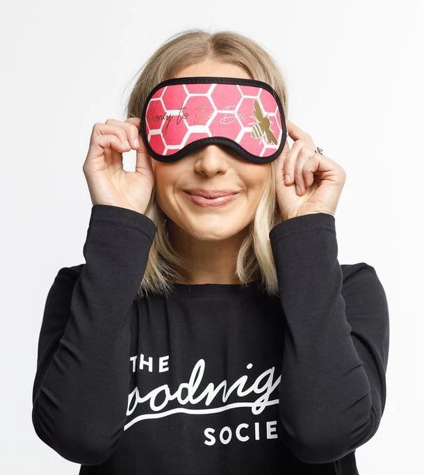 The Goodnight Society: Eye Mask - Honey Bee Print