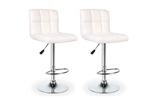Ovela: L Shape Bar Stools - White