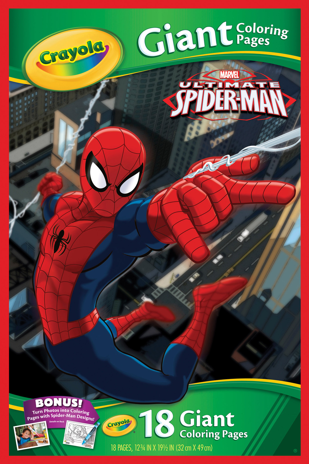 Marvel Spider-Man Giant Colouring Pages - Crayola | Toy | at Mighty ...