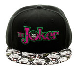 Joker Halftone Black Snapback Cap