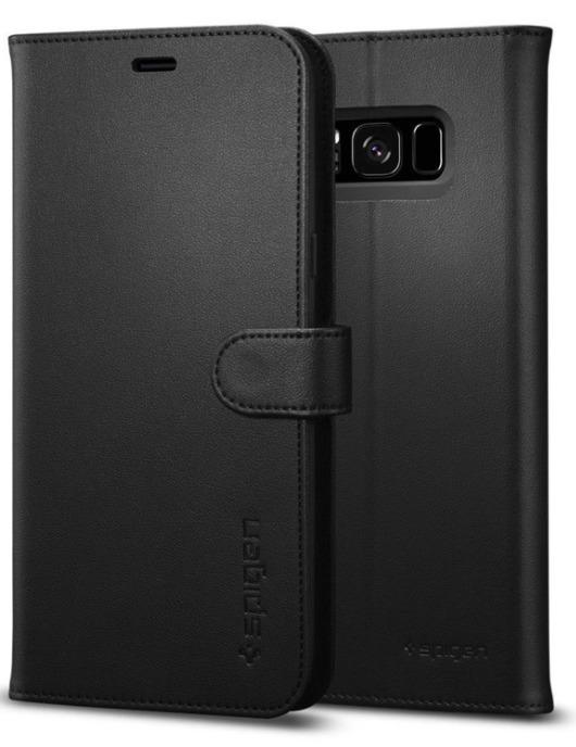 Spigen Galaxy S8 Premium Wallet Case Black image